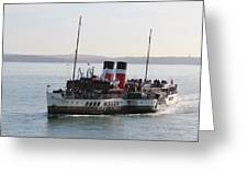 Paddle Steamer Greeting Card
