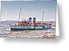 Paddle Steamer Waverley Greeting Card