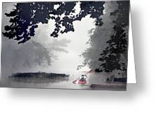 Paddling Towards The Unknown Greeting Card