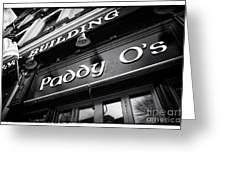 Paddy O's Greeting Card by John Rizzuto