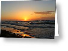 Padre Sunrise Greeting Card by Candice Trimble