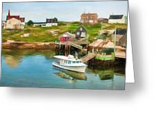 Peggy's Cove Boat Tours Greeting Card