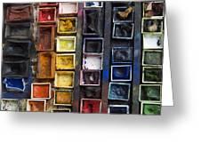Paint Box Greeting Card
