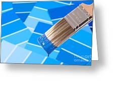 Paint Brush - Blue Greeting Card