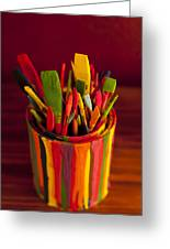 Paint Can And Paint Brushes Still Life Greeting Card