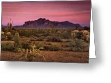 Paint It Pink Sunset  Greeting Card by Saija  Lehtonen