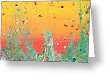 Paint Number Ninteen Diptych Greeting Card