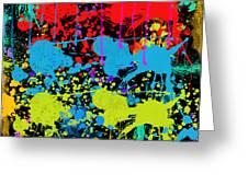 Paint Splatter - Black Greeting Card