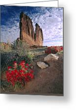 Paintbrush And  Organ Rock Greeting Card