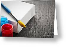 Paintbrush On Canvas Greeting Card