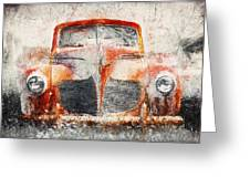 Painted 1940 Desoto Deluxe Greeting Card