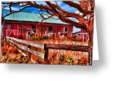 Painted Barn Greeting Card