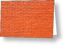 Painted Brick Wall Greeting Card