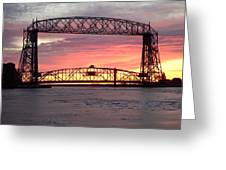 Painted Bridge Greeting Card