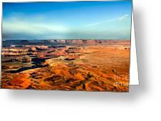 Painted Canyonland Greeting Card