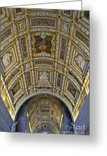 Painted Ceiling Of Staircase In Doges Palace Greeting Card by Sami Sarkis