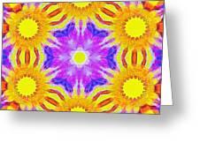 Painted Cymatics 161.66hz Greeting Card