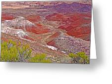 Painted Desert From Rim Trail In Petrified Forest National Park-arizona Greeting Card