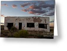 Painted Desert Trading Post At Sunset Greeting Card