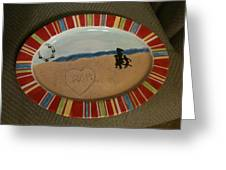 Painted Dish Greeting Card