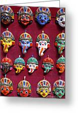Painted Elephant Souvenirs In Kathmandu Greeting Card