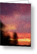 Painted Evening Greeting Card by Kevin Bone