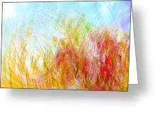 Painted Fall Leaves Greeting Card