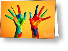 Painted Hands Greeting Card