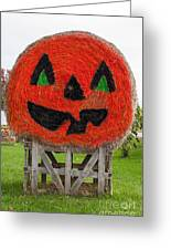 Painted Hay Bale Greeting Card