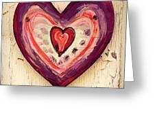 Painted Heart Greeting Card