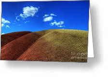 Painted Hills Blue Sky 1 Greeting Card
