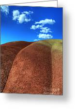 Painted Hills Blue Sky 2 Greeting Card