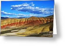 Painted Hills Blue Sky 3 Greeting Card