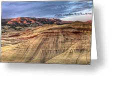 Painted Hills In Oregon Panorama Greeting Card