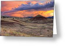 Painted Hills Sunset Greeting Card