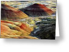 Painted Hills, Sunset, John Day Fossil Greeting Card