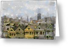 Painted Ladies - San Francisco Greeting Card
