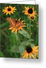 Painted Lady With Friends Greeting Card