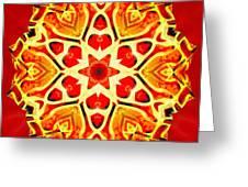 Painted Lotus Xi Greeting Card