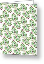 Painted Nature Coorsinating Foliage Leaves Pattern Greeting Card