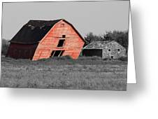 Painted Old Barn Greeting Card