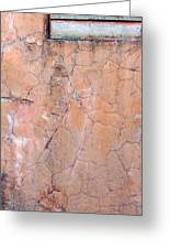 Painted Pink Concrete Greeting Card