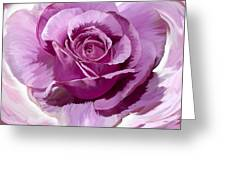 Painted Purple Rose  Greeting Card