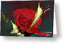 Painted Rose Greeting Card by M Montoya Alicea