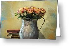 Painted Roses Greeting Card by Terry Rowe