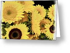 Painted Sunflowers Greeting Card