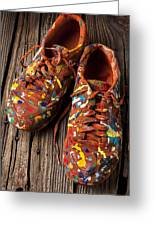 Painted Tennis Shoes Greeting Card
