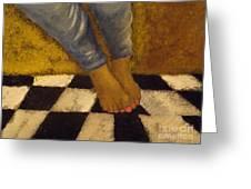 Painted Toe Nails Greeting Card