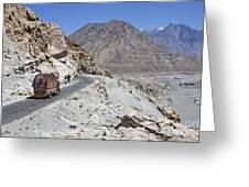 Painted Truck On The Karakorum Highway In Pakistan Greeting Card by Robert Preston