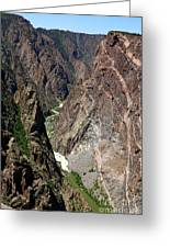 Painted Wall Black Canyon Of The Gunnison Greeting Card